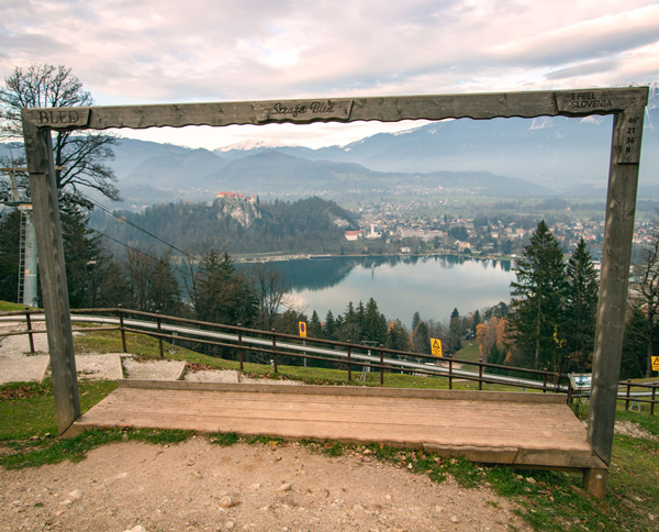 Main viewpoint on Straža in Bled