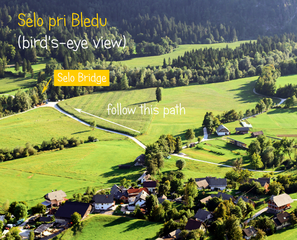 Thw village of Selo near Bled