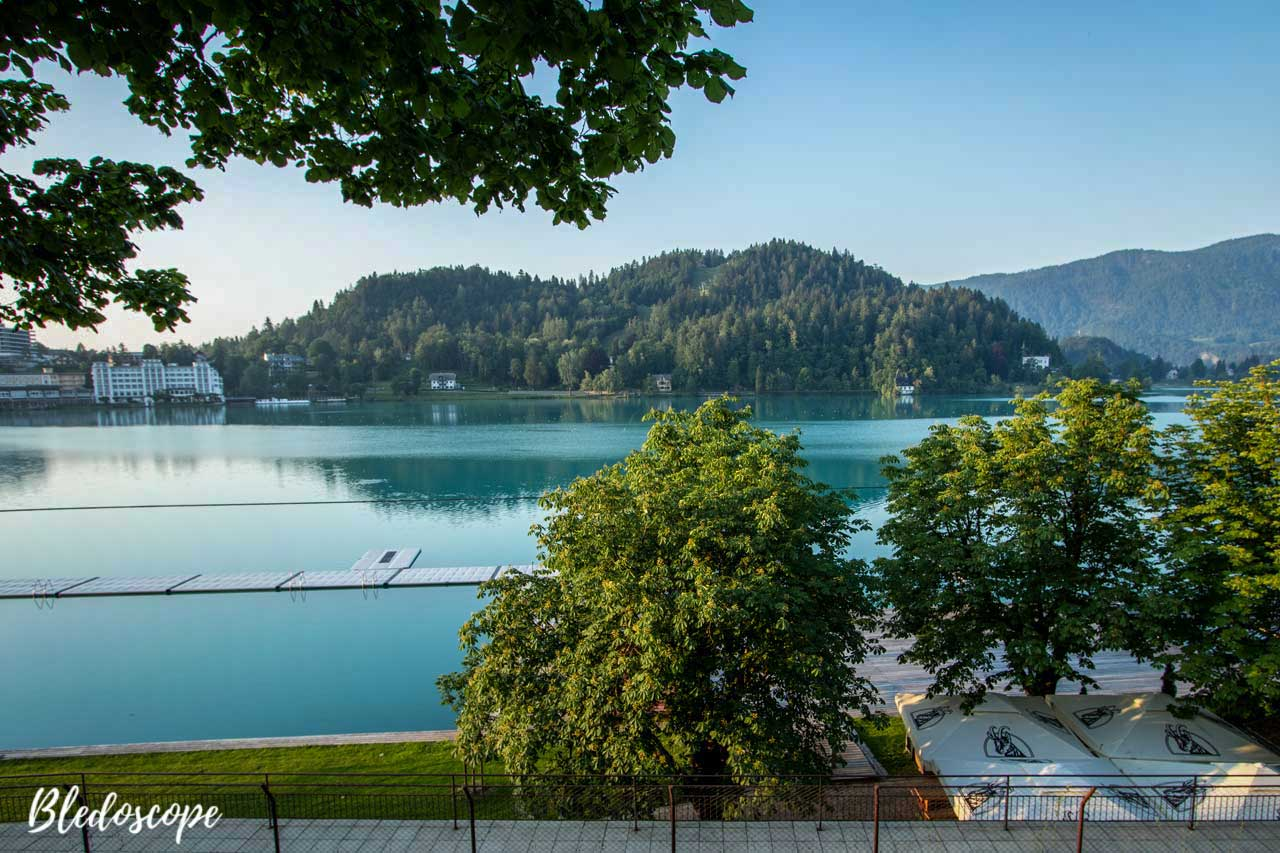 View of Straža from Lake Bled