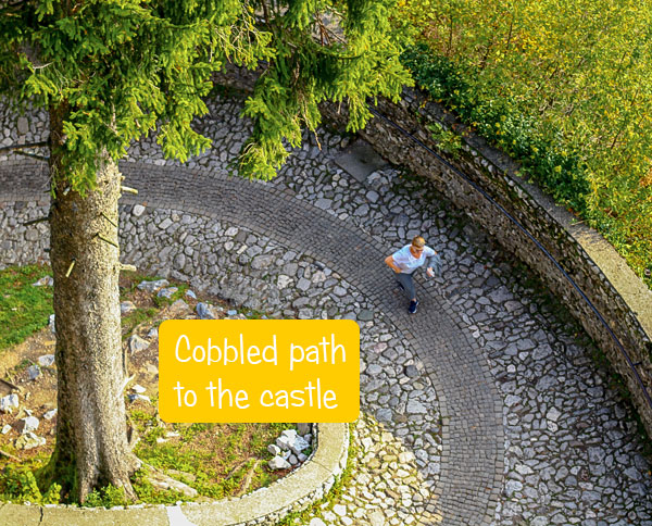 Cobbled path to Bled Castle