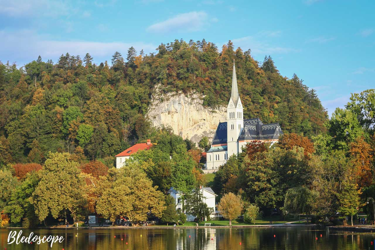 St Martin's Church by Lake Bled