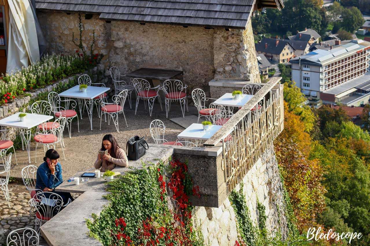 The cafe at Bled Castle