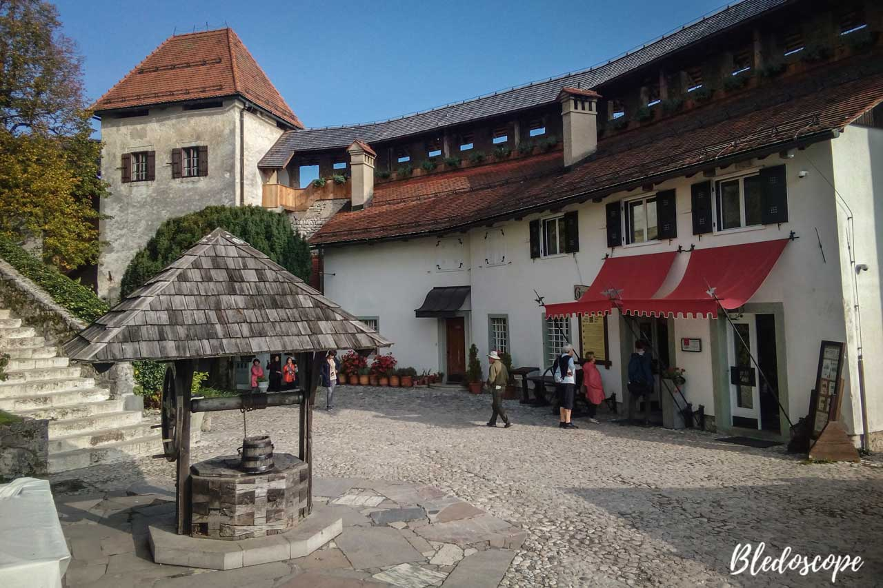 On the lower courtyard of Bled Castle.