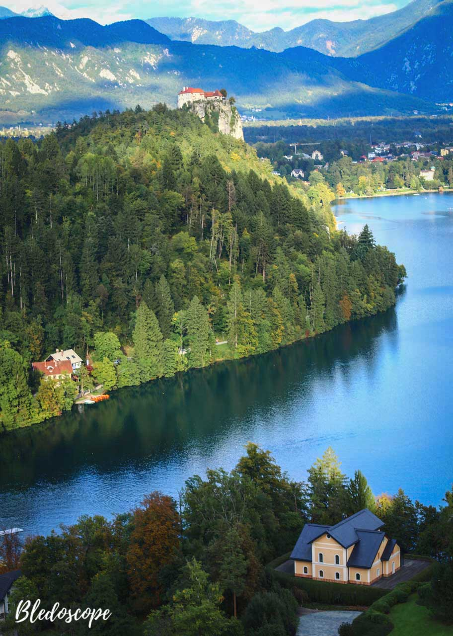 cliff with bled castle