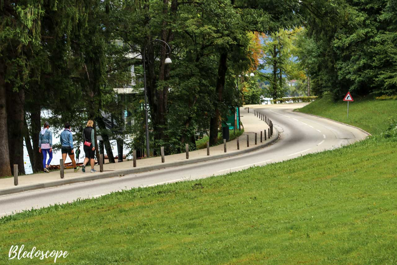 The road by Lake Bled