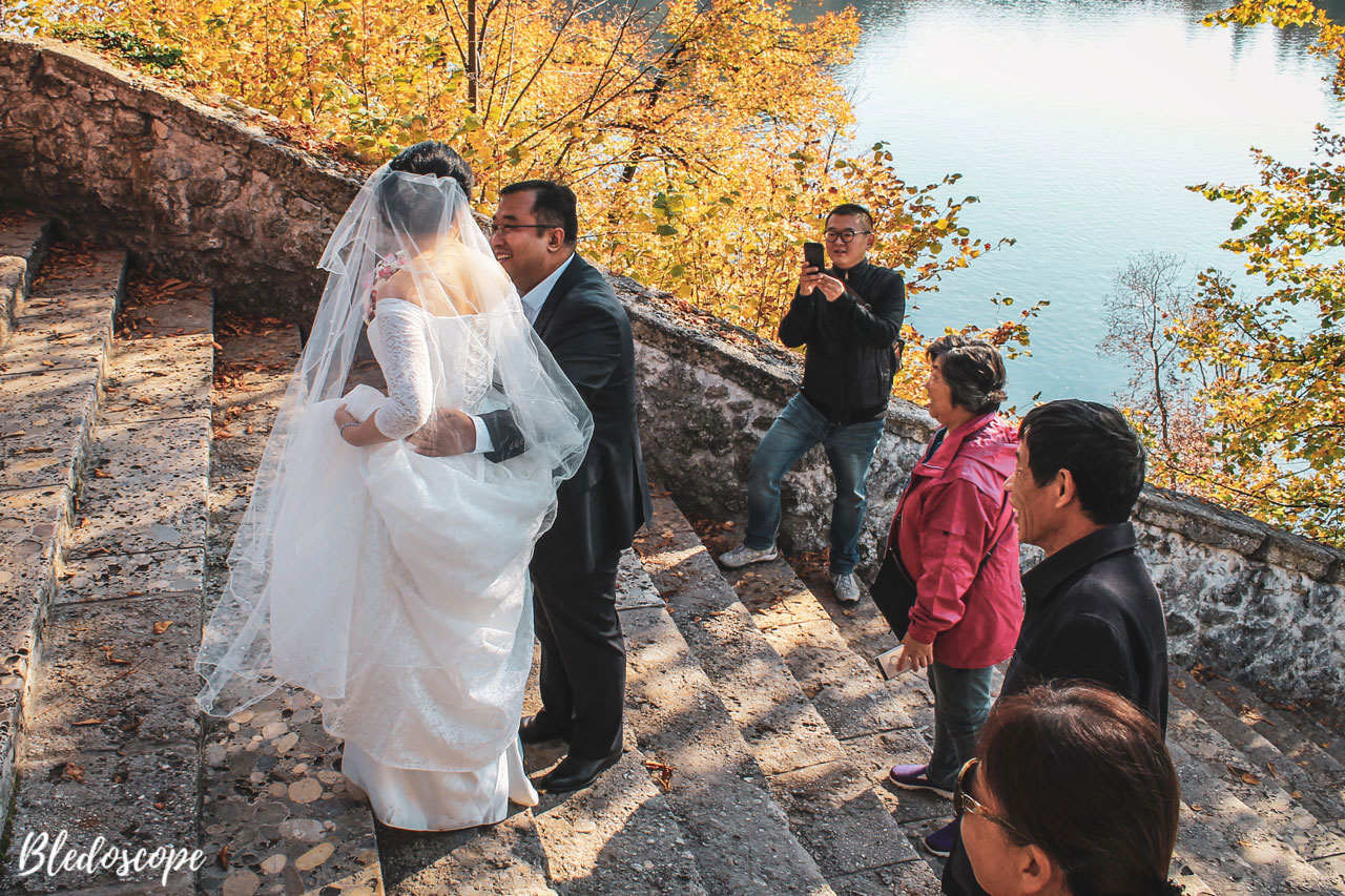 Wedding at Bled Island