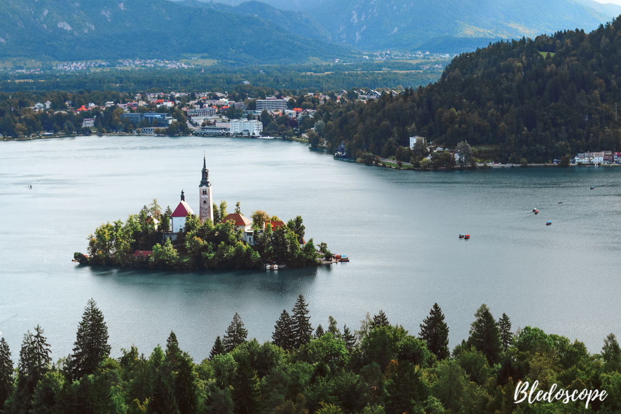 View of Bled Island from Ojstrica Hill