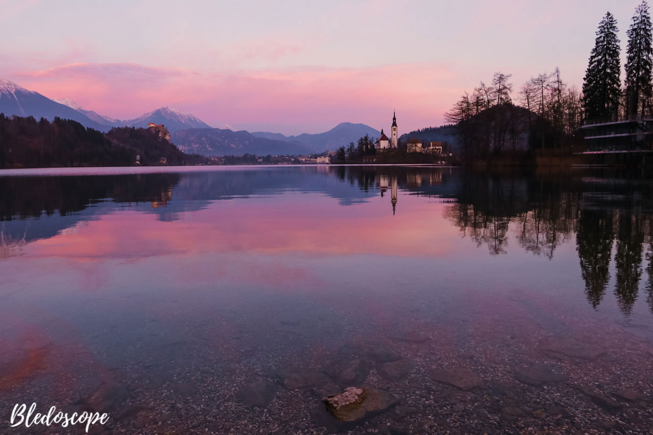Sunset over Bled Island
