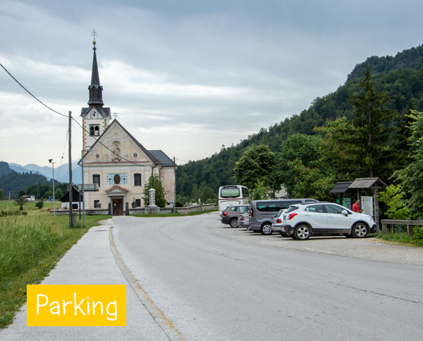 Parking in Bohinjska Bela