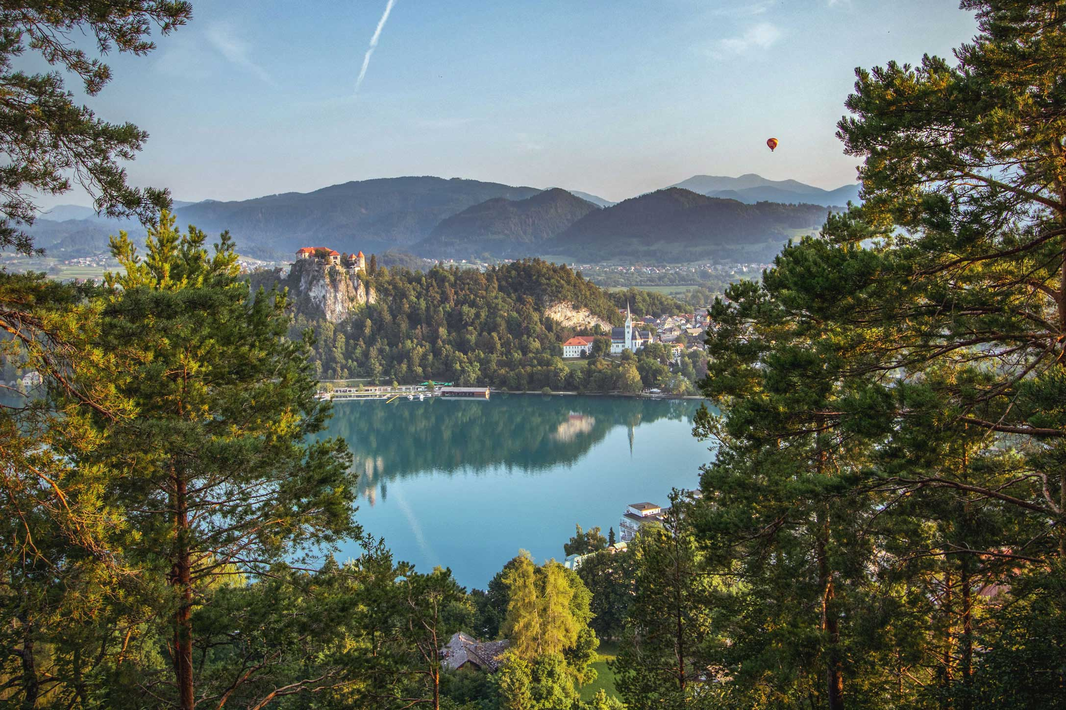 panoramic walk above Lake Bled