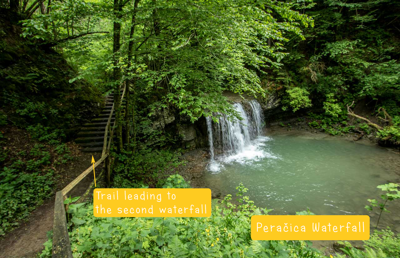 Peračica Waterfall in Brezje