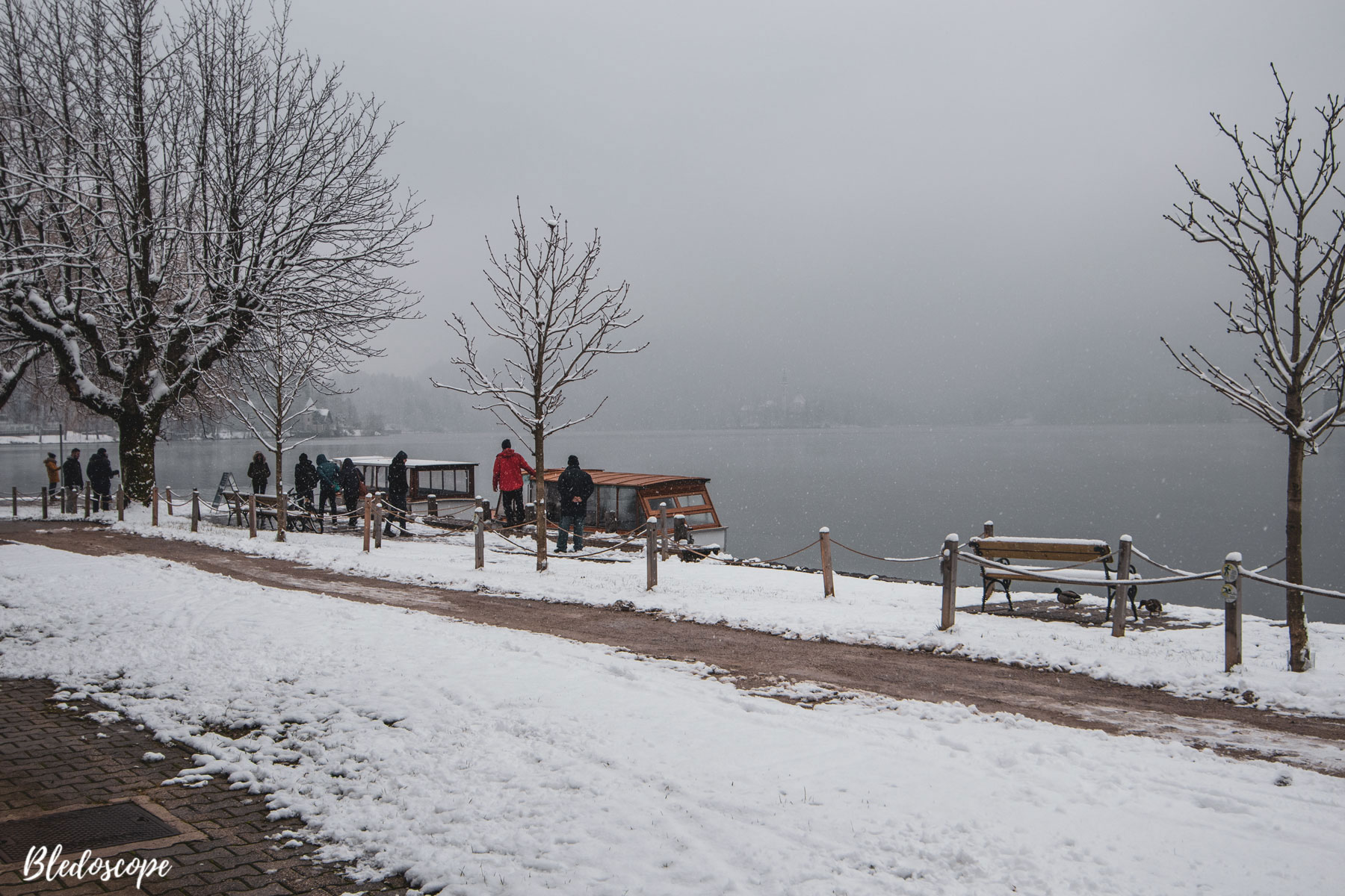 First snow at Lake Bled
