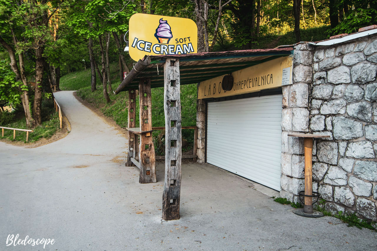 Closed ice-cream shop at Lake Bled in the time of coronavirus outbreak
